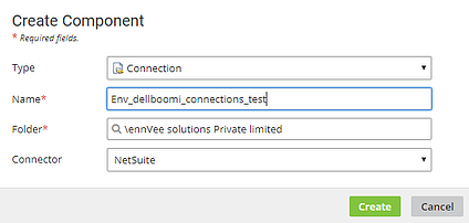 Creating a new connection to NetSuite in Boomi