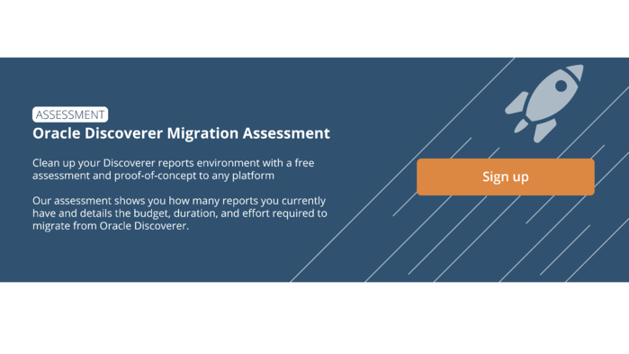 Oracle Discoverer Migration Assessment Button