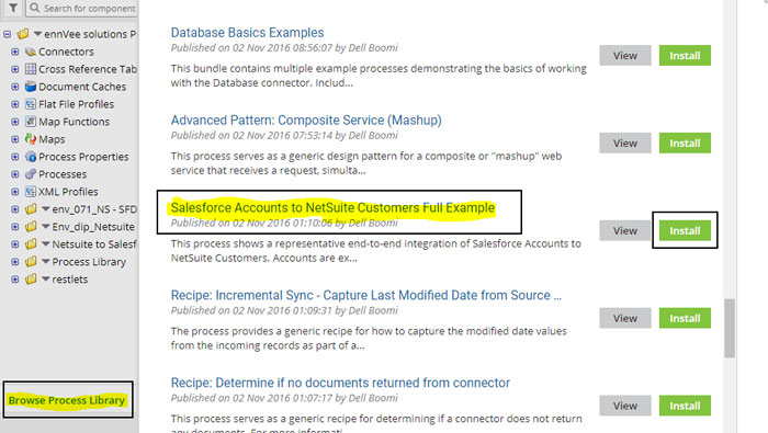 salesforce accounts to netsuite customers full example screen